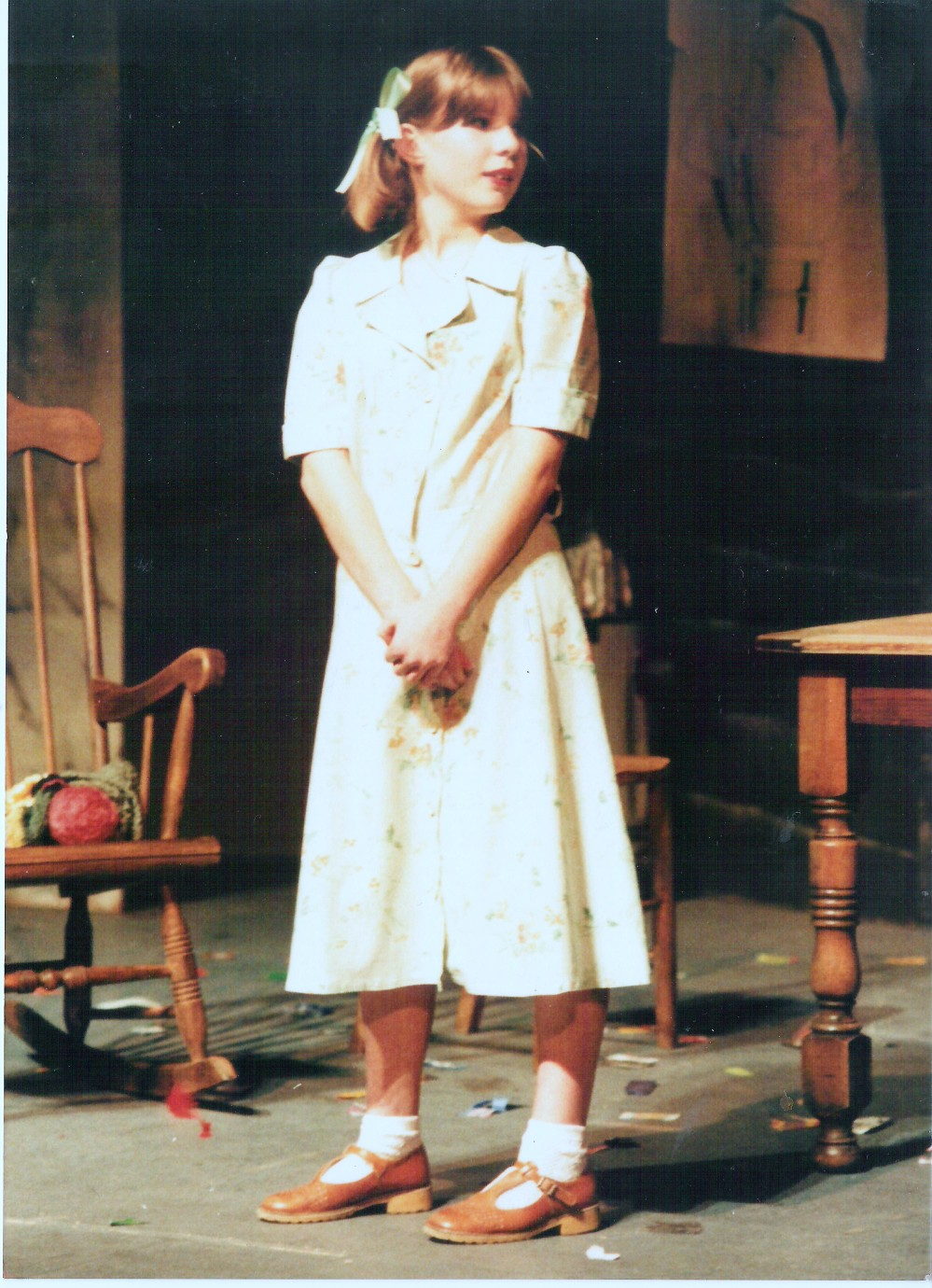 In one of her early roles in Am Dram