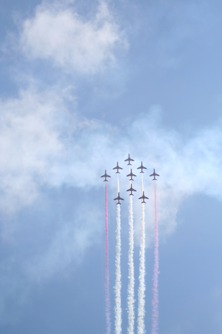 Red Arrows in formation